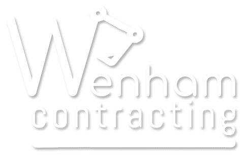 wenham contracting logo white